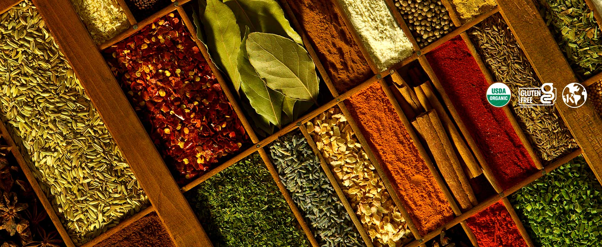 Premium, gourmet organic spices & herbs